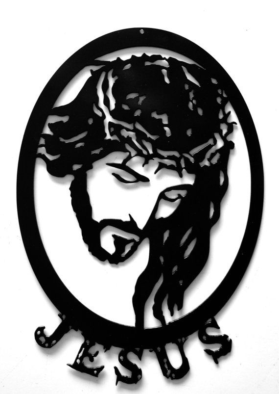 570x803 Jesus Art, Christmas Gift, Crown Of Thorns, Silhouette Art, Custom