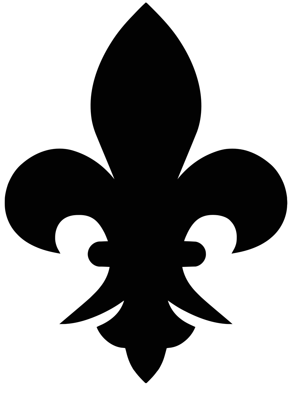 1000x1333 Filefleur De Lis Black.svg