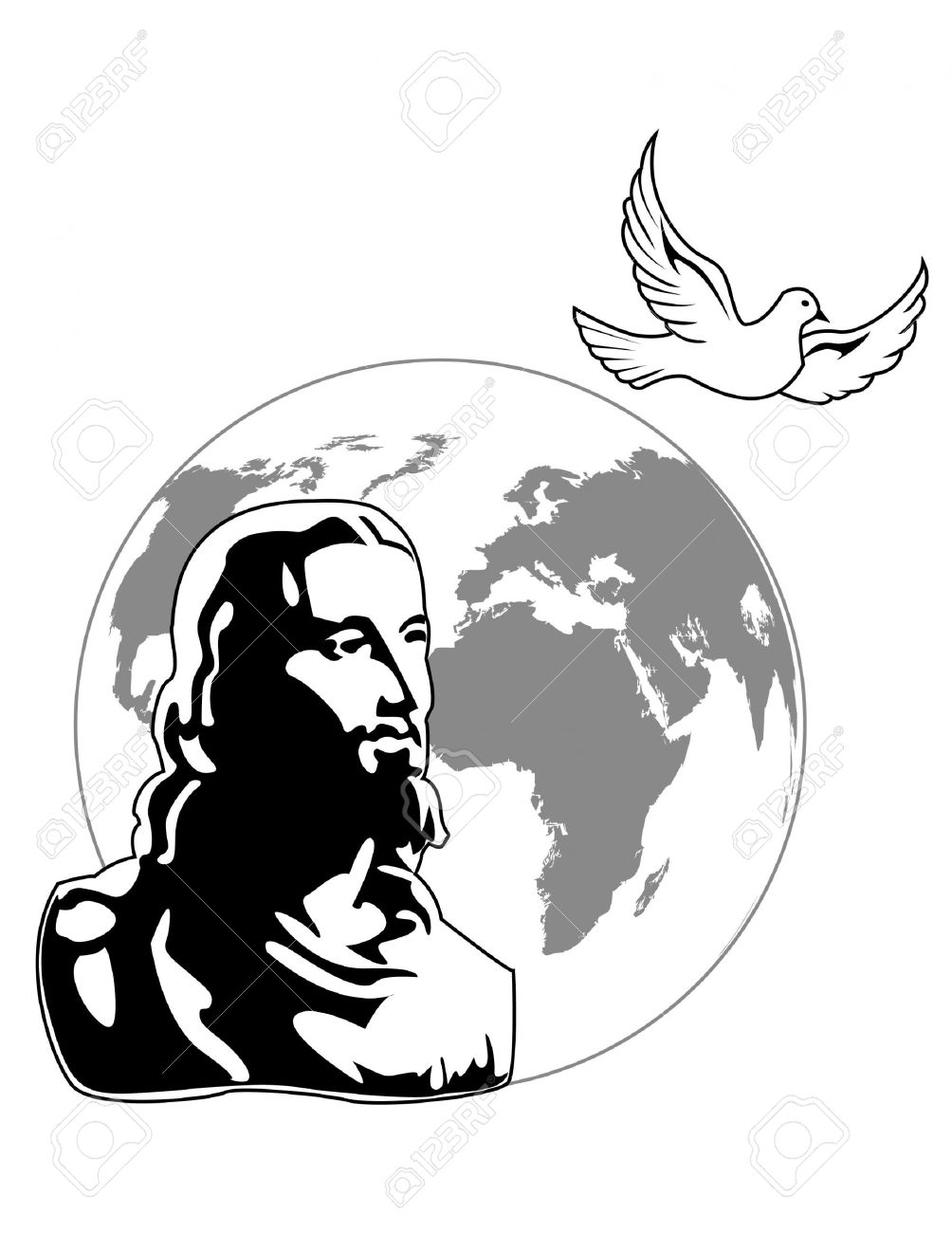 Jesus Silhouette Vector