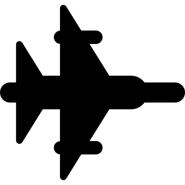 626x626 Fighter Jet Silhouette Icons Free Download