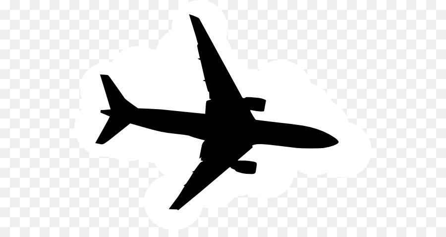 900x480 Airplane Silhouette Clip Art