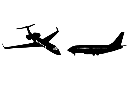 500x350 Small Jet Clipart Silhouette