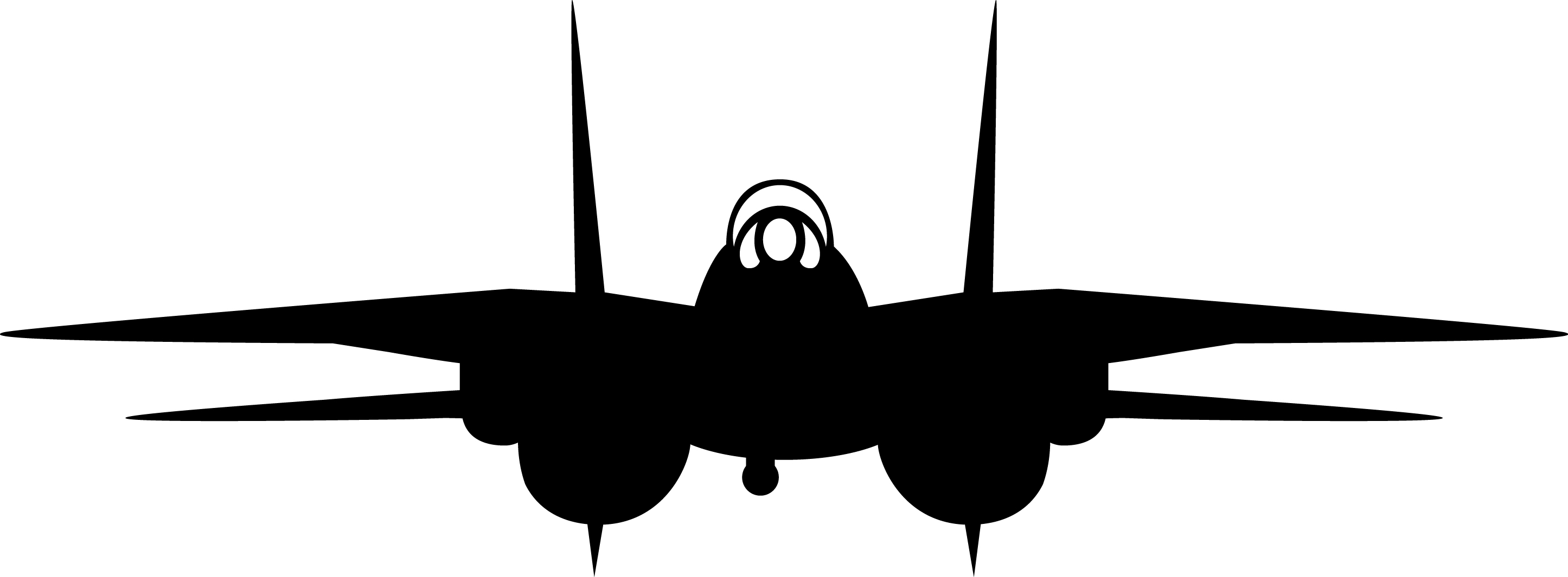 2891x1065 F 14 Tomcat Invertable Silhouette Silhouettes And Woodworking