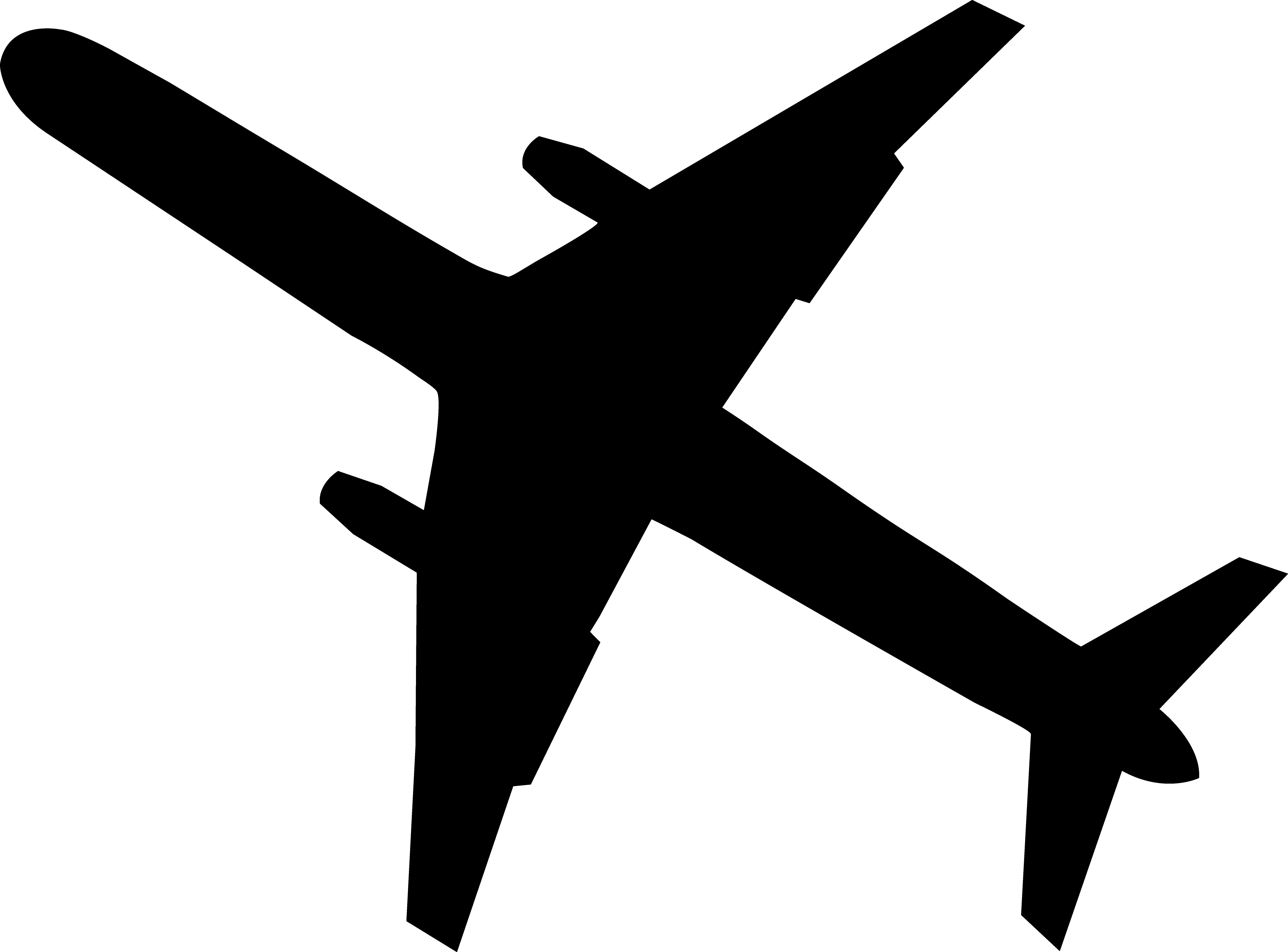 4183x3090 Airplane Shadow Cliparts