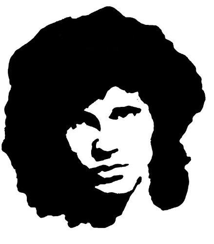 439x500 Jim Morrison Airbrush, Wall Art , Paint Stencil, Genuine Mylar Re