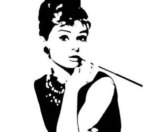 340x270 Handmade Audrey Hepburn Silhouette Pdf Cross Stitch Pattern