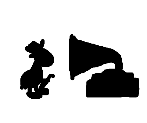 300x250 Silhouette Jiminy Cricket And Phonograph