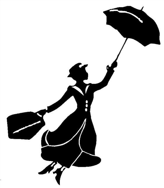 564x647 Mary Poppins Disney Silhouette