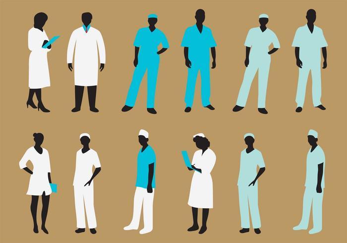 700x490 Vector Nurse Silhouette