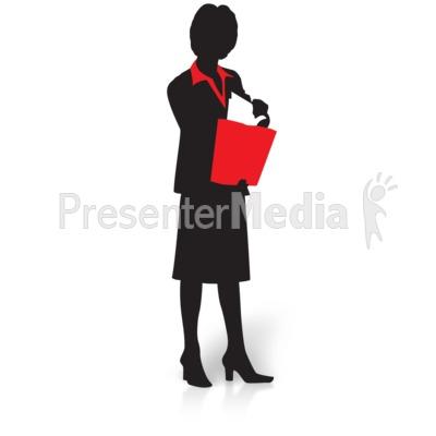 400x400 Businesswoman Silhouette Talking Phone