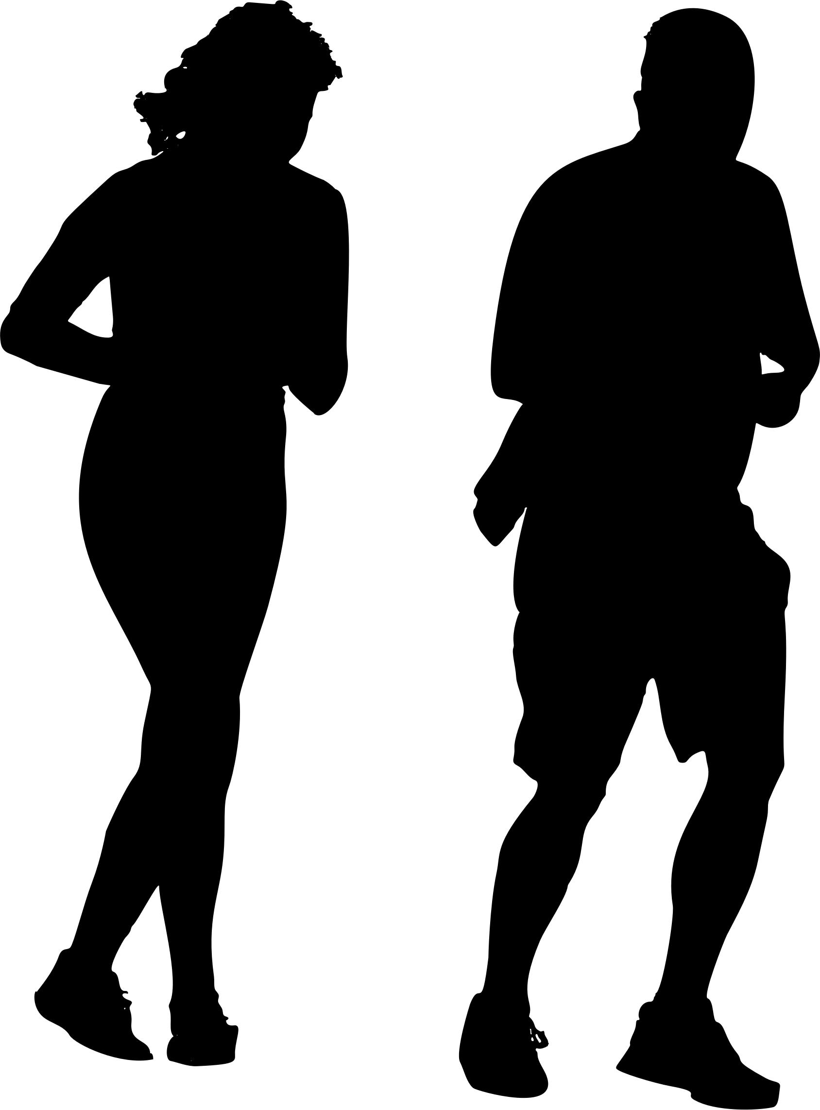 1688x2284 Jogging Couple Silhouette Icons Png