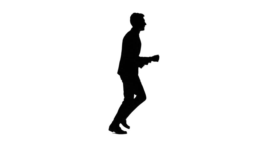 852x480 Animated Silhouette Of A Jogging Woman. Includes Alpha Channel