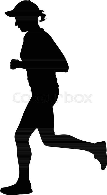 440x800 Runner Silhouette. Jogging Silhouette Stock Vector Colourbox