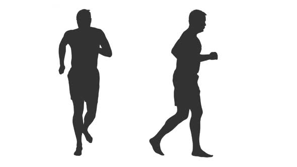 590x332 Silhouette Of Man Jogging Barefoot, Alpha Channel By Mgpremier