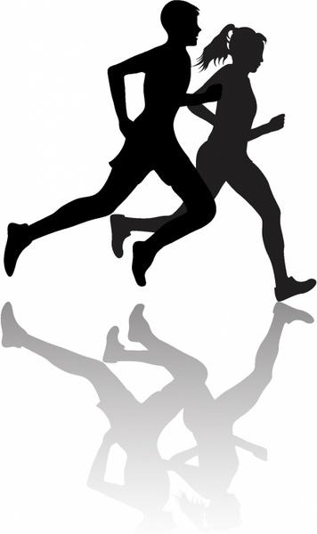 356x600 Interracial Couple Jogging Or Exercising Free Vector In Adobe