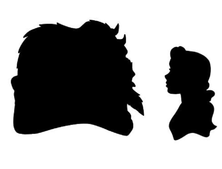 735x562 The Beastprince Adam And Belle Silhouettes Disneydreamworks