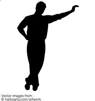 335x355 Gallery Man Leaning Silhouette,