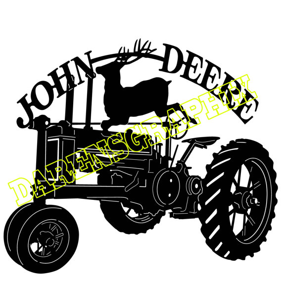 570x570 Dxf File Of A John Deere Tractor For Use With A Cmc Plasma Cutter