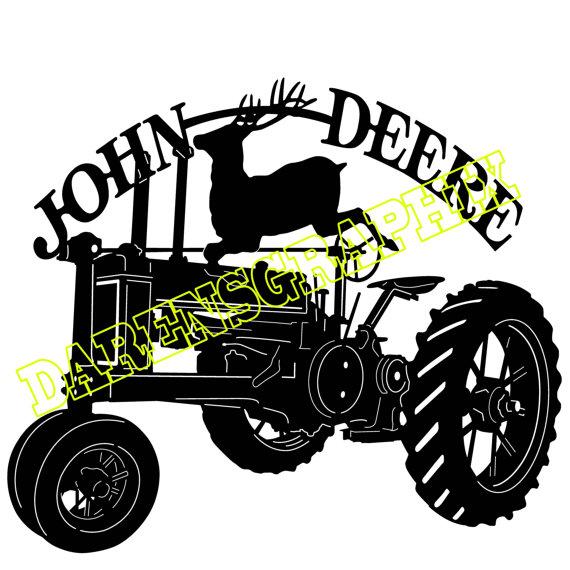 John Deere Tractor Silhouette