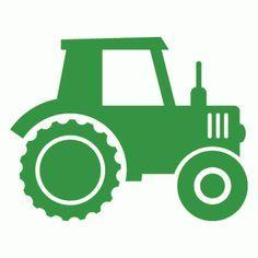 236x236 John Deere Tractor Silhouette