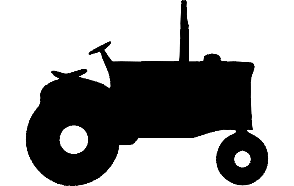 1002x633 Tractor Silhouette Dxf File Free Download