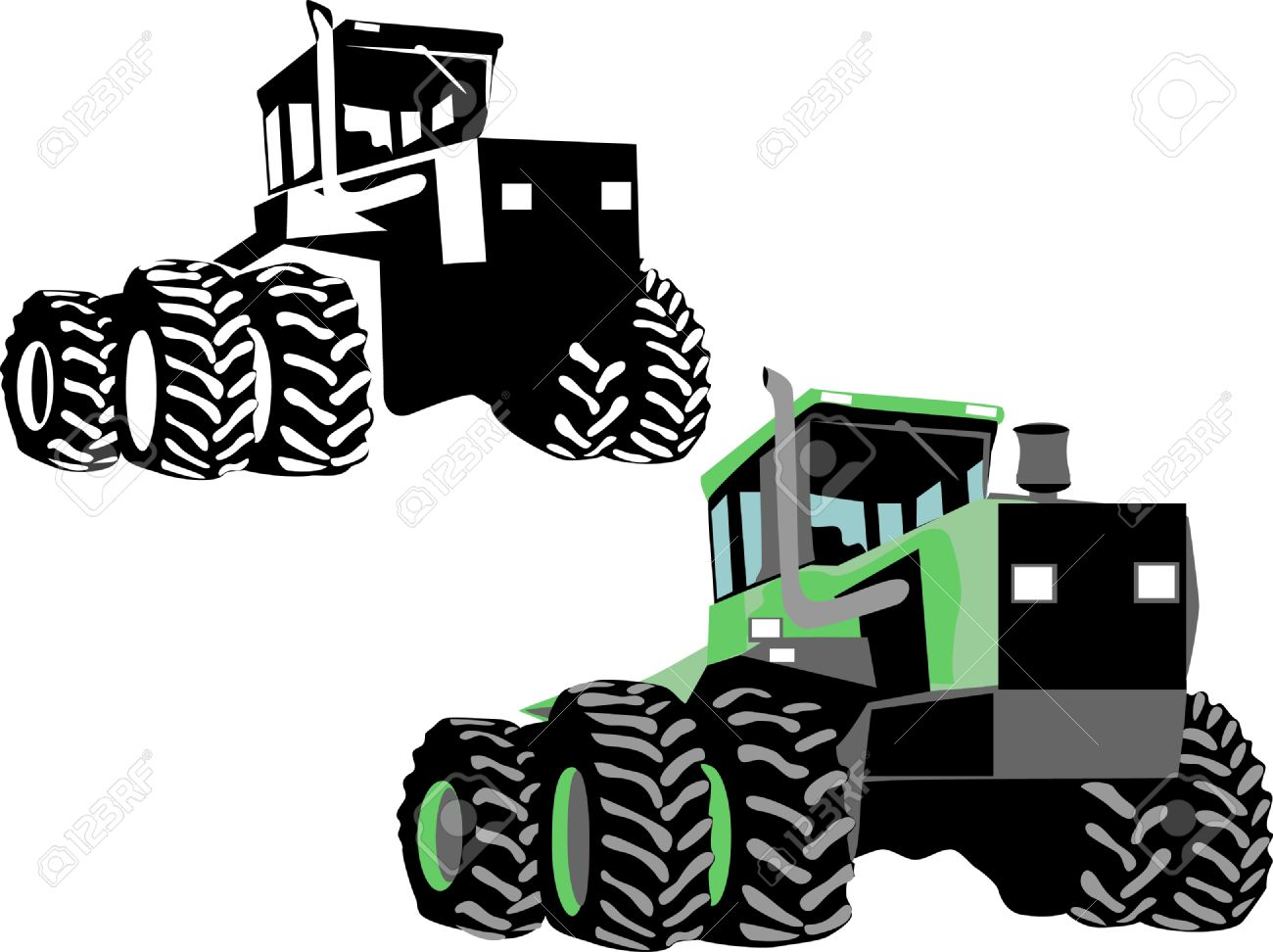 1300x972 Tractor Clipart Four Wheel Drive