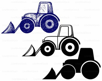 340x270 Tractor Silhouette Etsy