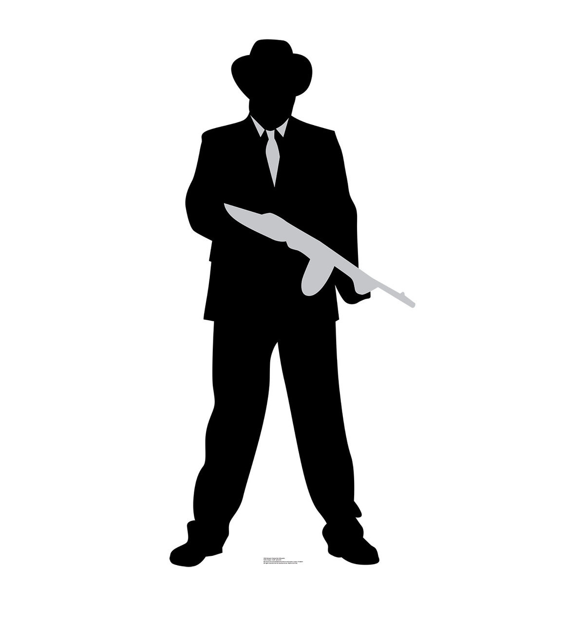 1199x1280 Su 2404 Gangster Tommy Gun Silhouette Cutout Standup