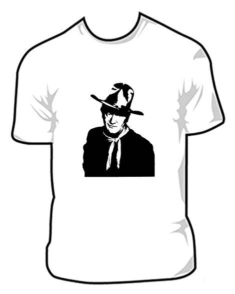 470x587 John Wayne Silhouette Photo T Shirt Iron