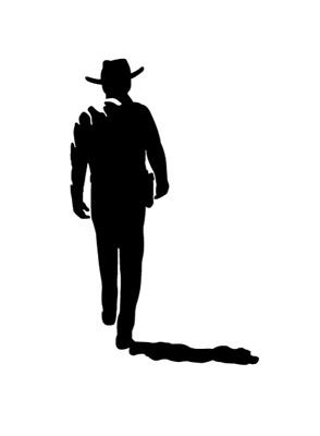 294x400 John Wayne Silhouette