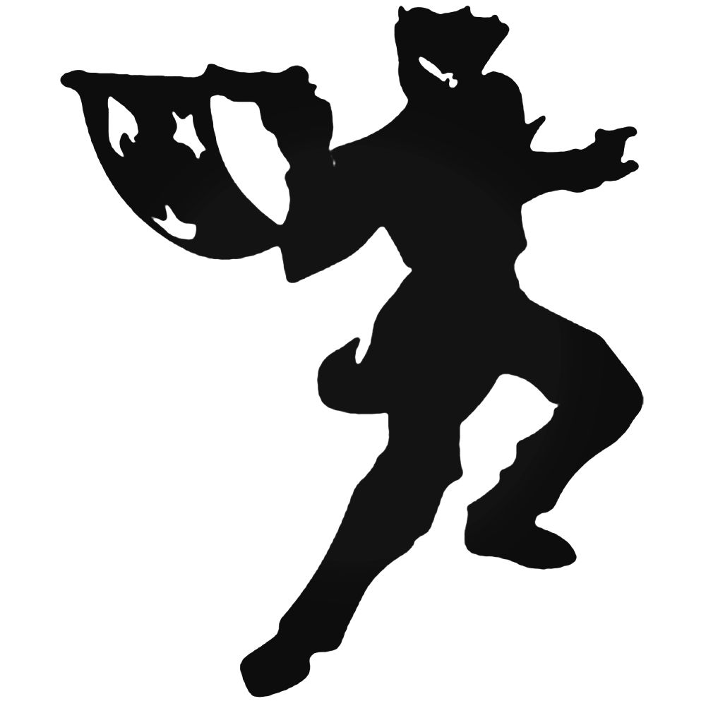 1000x1000 The Joker Silhouette Decal
