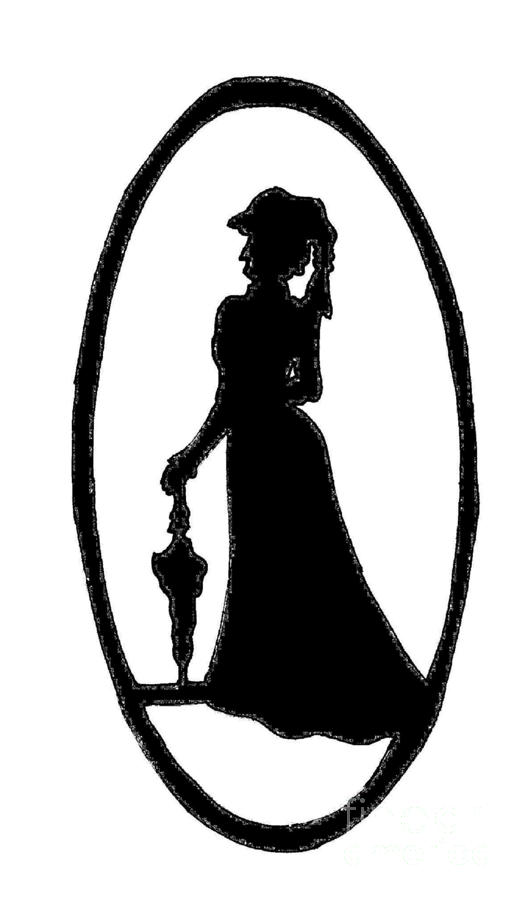 528x900 Woman Silhouette Black On White Digital Art By Jeannie Atwater