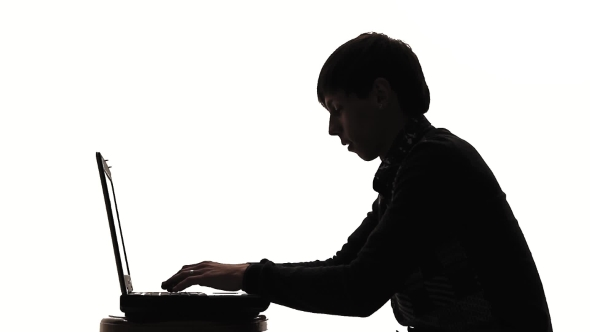 590x332 A Man Working At A Laptop Silhouette Joy By Elastix Videohive