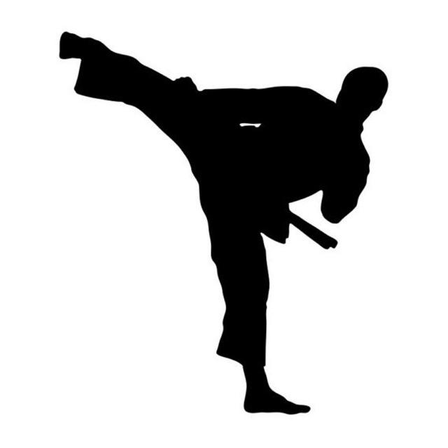 640x640 10.612.2cm Taekwondo Karate Handsome Boy Car Stickers Reflective