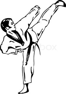 226x320 Kung Fu, Shaolin Vector Silhouettes. Layered And Fully Editable
