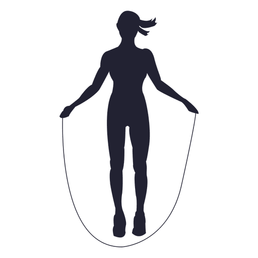 512x512 Female Rope Jump Silhouette