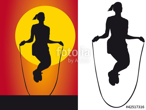 500x376 Silhouette Girls Jump Rope Stock Photo And Royalty Free Images