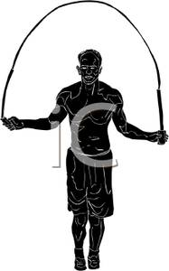 187x300 Silhouette Of A Man Jumping Rope