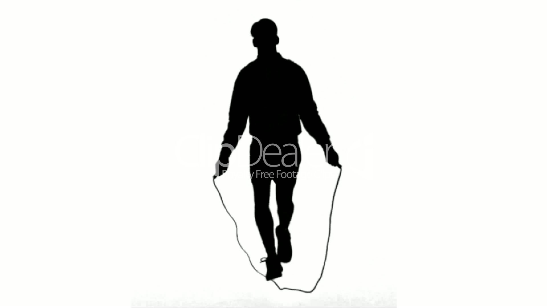 1920x1080 Silhouette Of A Man Working Out With A Rope On White Background