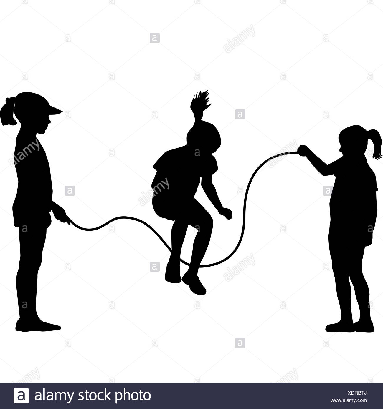 1300x1390 Girl Jumping Rope Illustration Stock Photos Amp Girl Jumping Rope