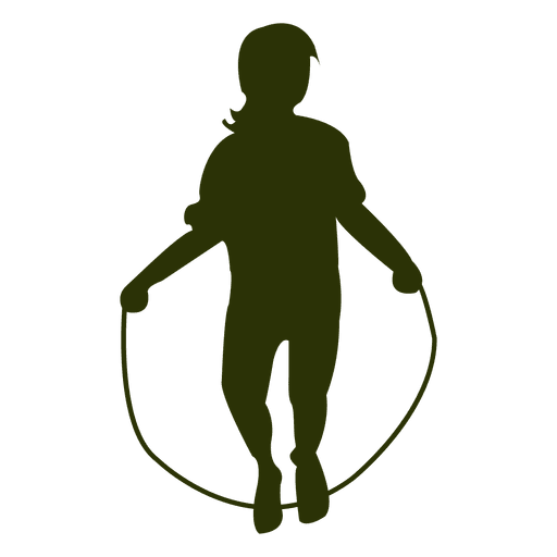 512x512 Girl Jumping Rope Silhouette
