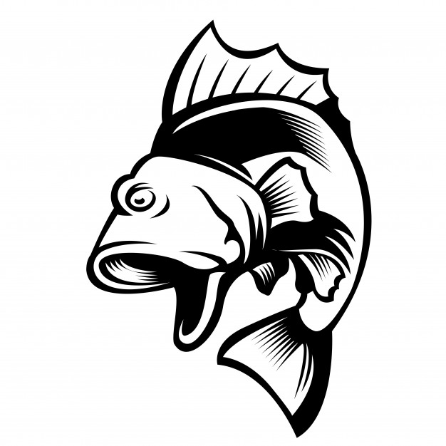 626x626 Jumping Big Mouth Bass Fish Mascot Logo Vector Premium Download