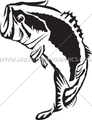 296x385 Large Mouth Bass Jumping Production Ready Artwork For T Shirt