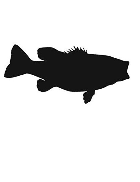 453x587 Pack Of 3 Largemouth Bass Stencils Made From 4 Ply Mat