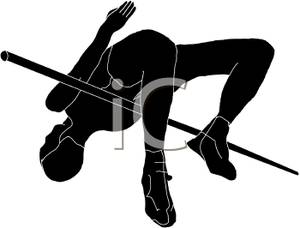 300x228 Athlete Silhouette Clipart