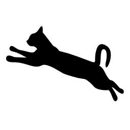 256x256 Jumping Cat Clipart