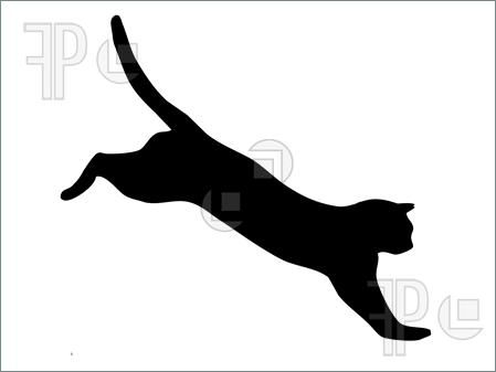 449x337 Jumping Cat Silhouette Clipart Kitty Pins Cat