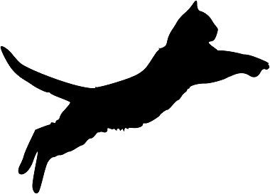 380x273 Wesellwallart Cat Jumping Silhouette Wall Art Decal Vinyl Sticker