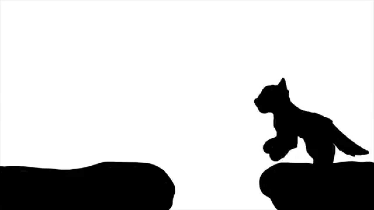 1280x720 Cat Jump Cycle Silhouette