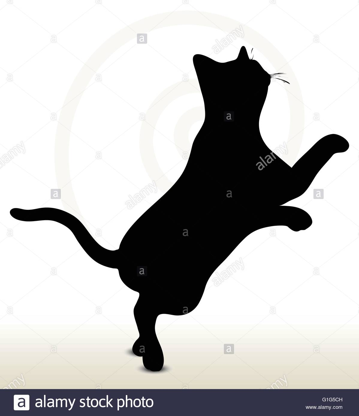 1198x1390 Cat Jumping Stock Vector Images